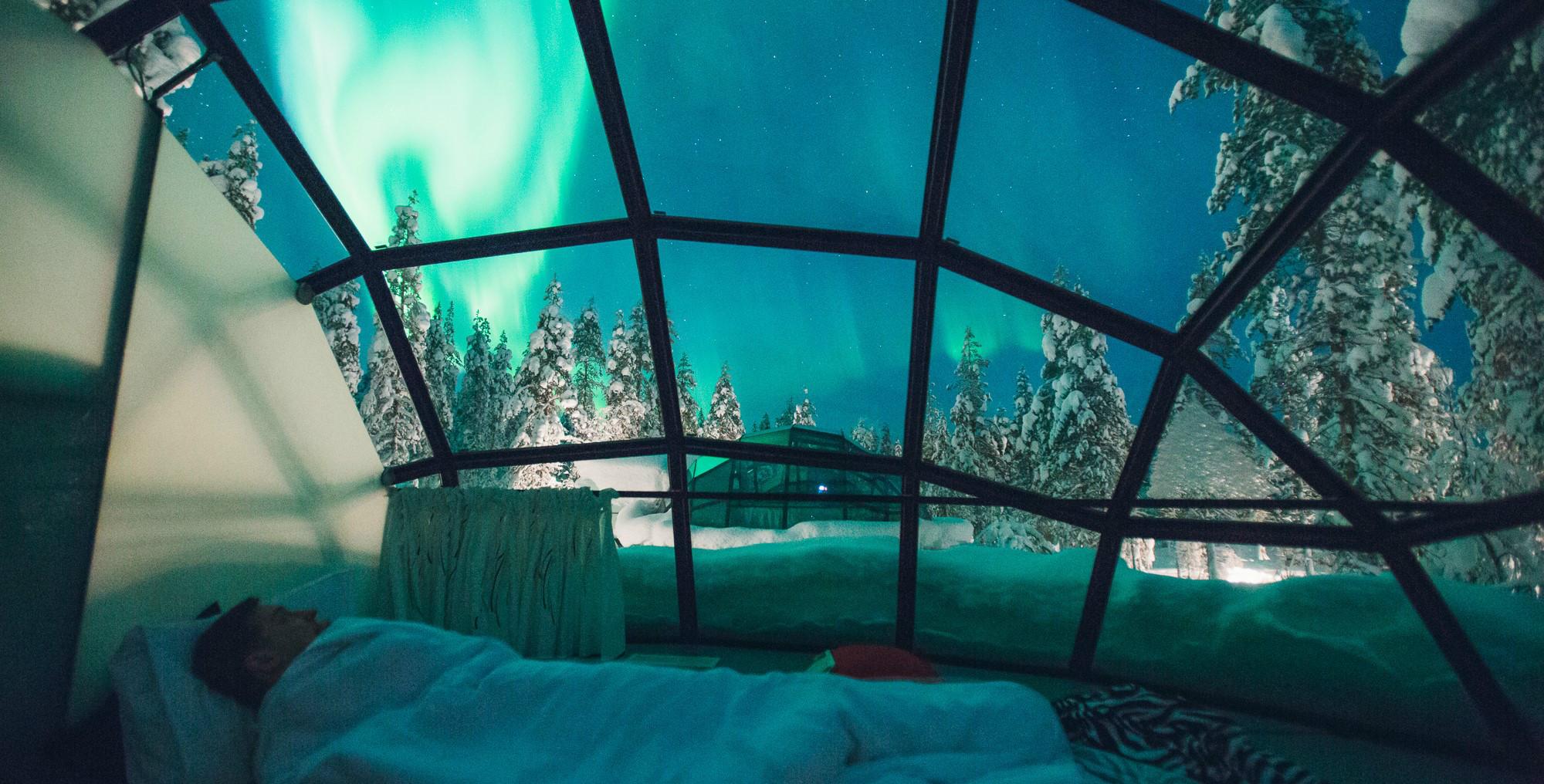 芬兰玻璃屋_北欧极光、玻璃屋私人订制旅行